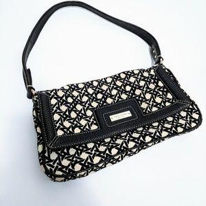 Kate Spade   Black and White Pattern Shoulder Bag